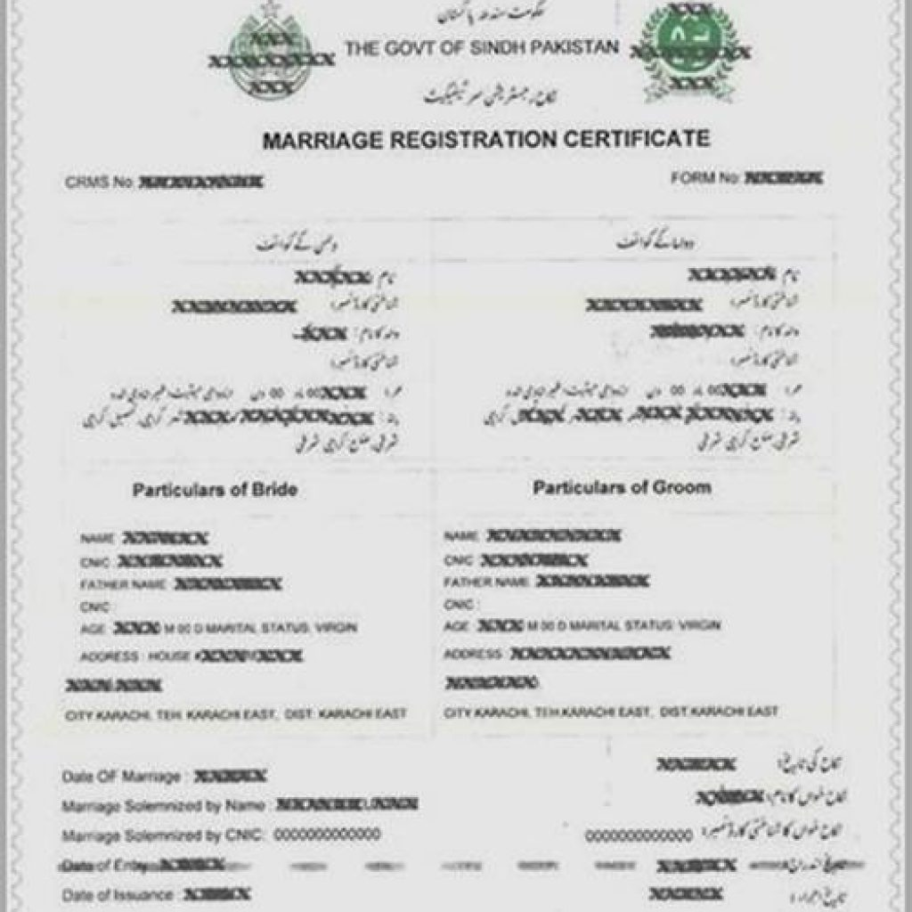 Certificate issuance business point travels tours nadra marriage certificate aiddatafo Image collections